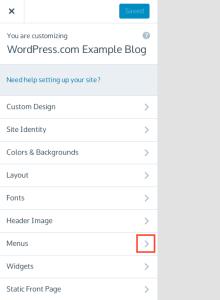 custom menus support wordpress com