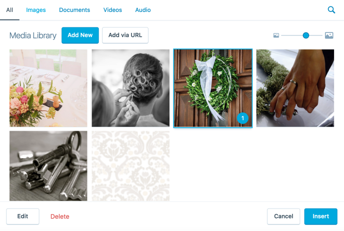 wedding-media-library
