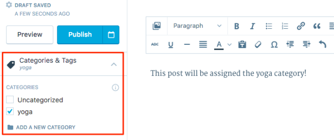 assign page to category wordpress