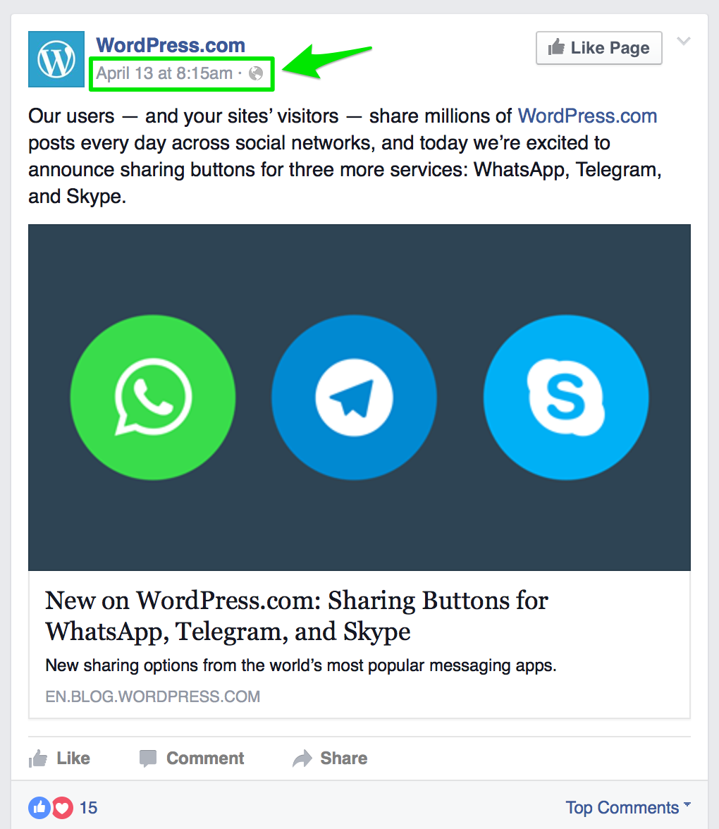facebook embeds support wordpress com