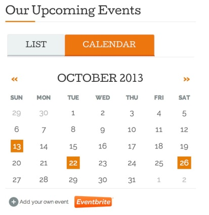Eventbrite Event CalendarListing Widget  Support  WordpressCom