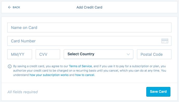 Payment Methods — Support — WordPress com
