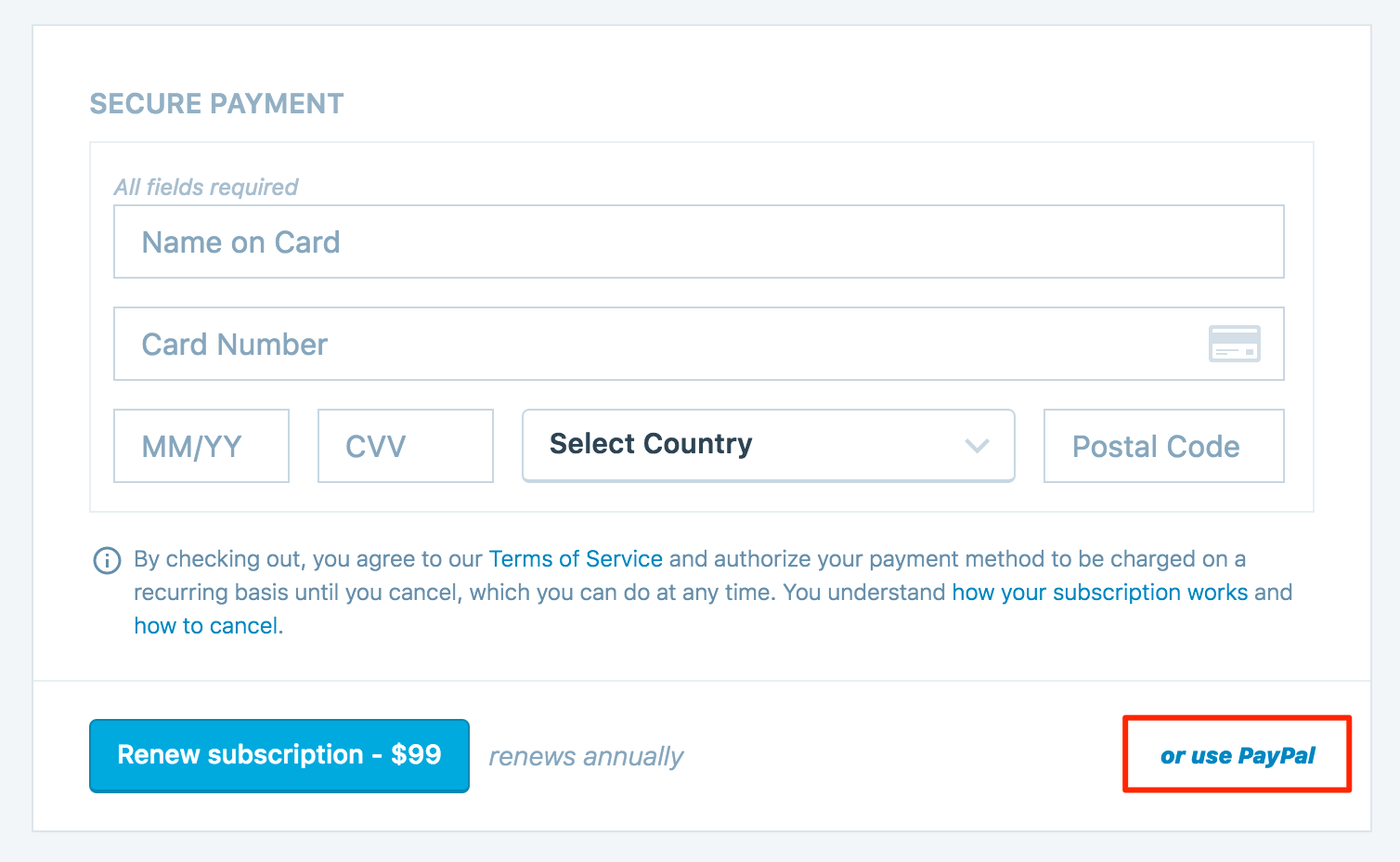 Payment Methods — Support — WordPress com