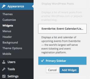 Eventbrite Widget