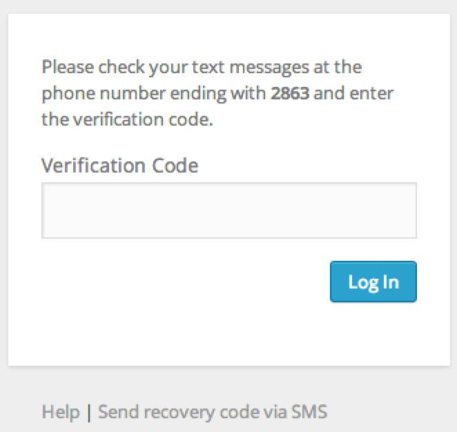 Two step authentication support wordpress 2fa login sms publicscrutiny Image collections