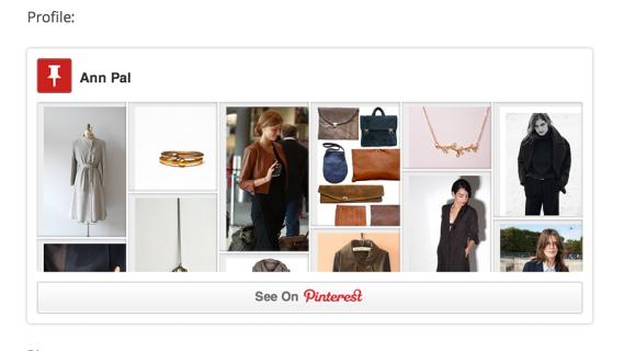 Integrazione di Pinterest