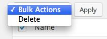 WP Admin - Bulk Actions
