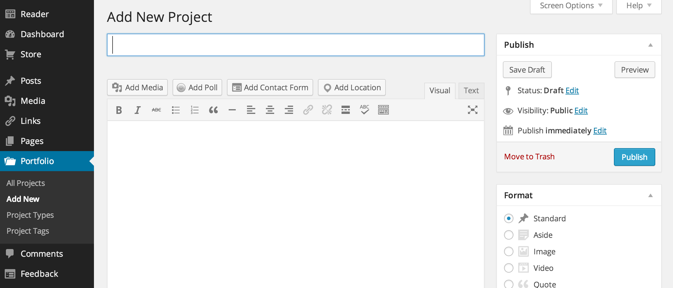 Adding images to portfolio wordpress