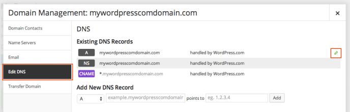 godaddy-wpcom-edit-a-record