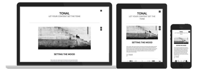Responsive-width Theme on desktop, iPad and iPhone