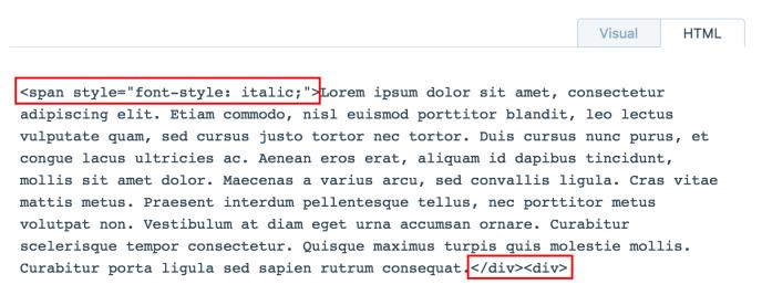 html troubleshooting — support — wordpress, Sphenoid