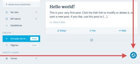 Shows the in-page translator globe used to help add translations to WordPress.com.
