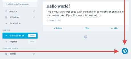 Shows the in-page translator globe used to help add translations to WordPress.com.