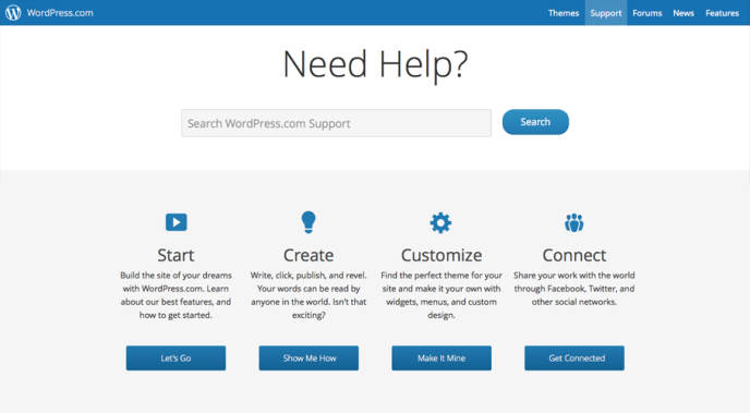 Get Started — Support — WordPress.com
