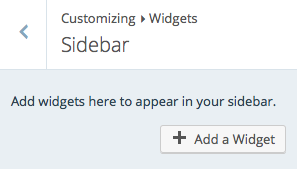 Add A Widget Button