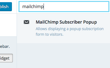 Select Mailchimp Widget