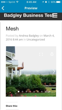 Mesh gallery in post