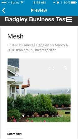 Mesh gallery in post