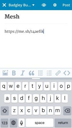 Mesh URL in post editor