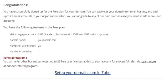 Adicionar email pelo zoho mail suporte wordpress zoho exibir a seguinte tela zohomailsuite stopboris Gallery