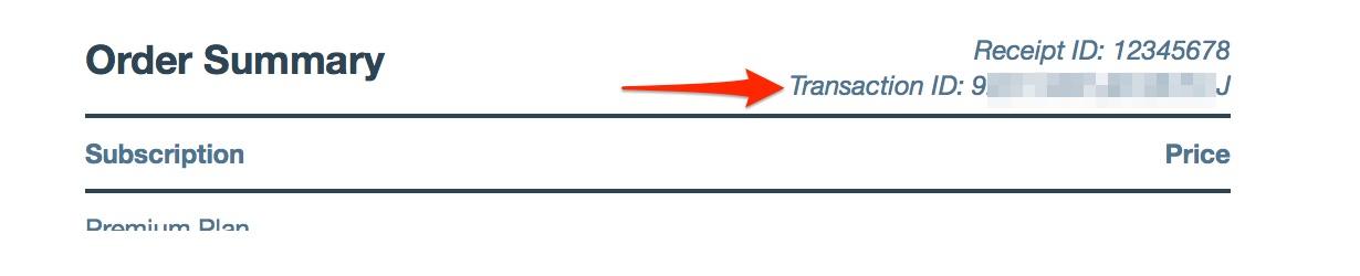 Retrieving a Transaction ID — Support — WordPress.com