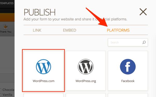 JotForm — Support — WordPress.com