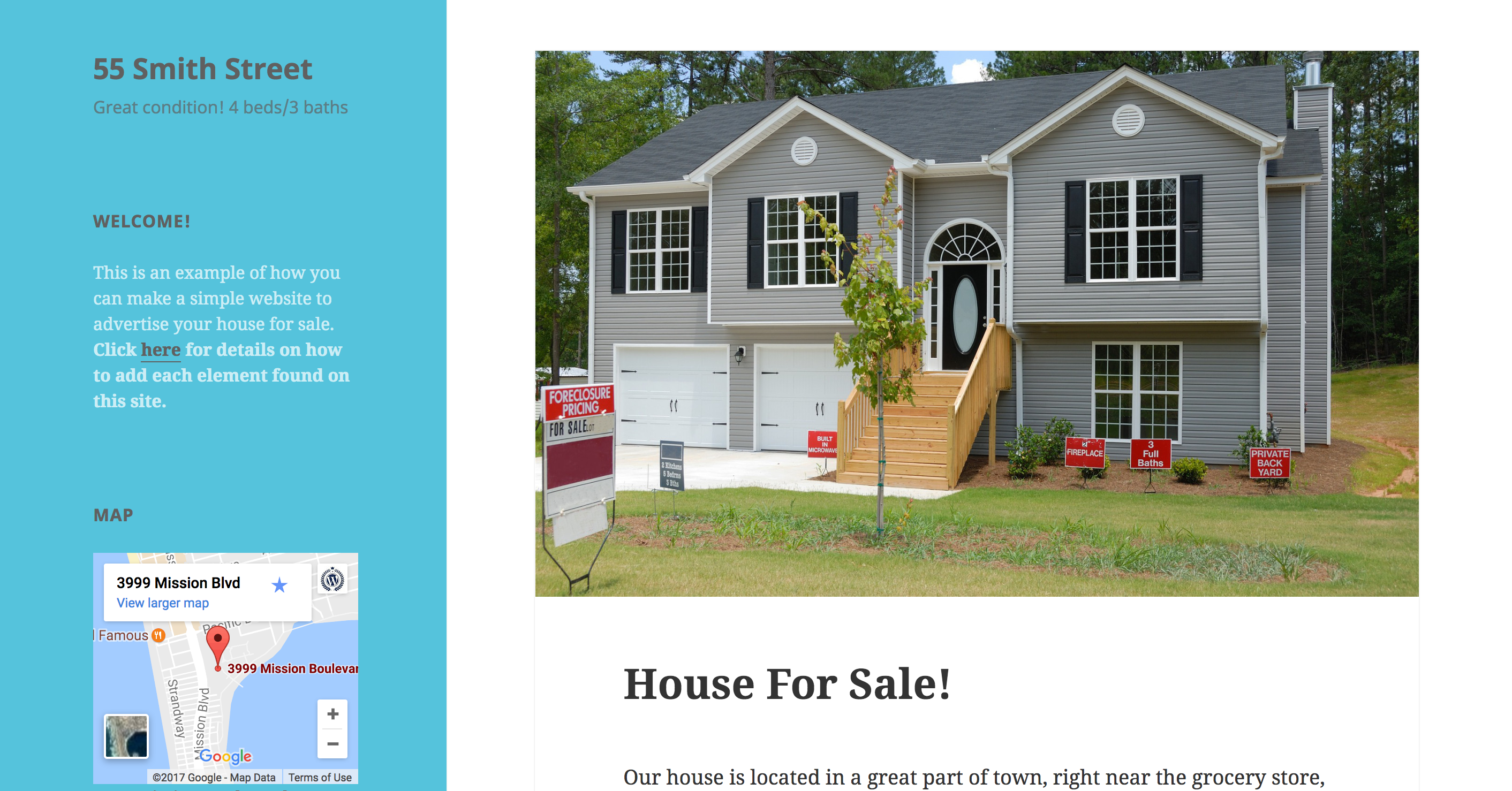 Build a Site to Help Sell Your House Tutorial — Support ...