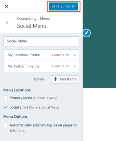 Add a Social Links Menu — Support — WordPress.com