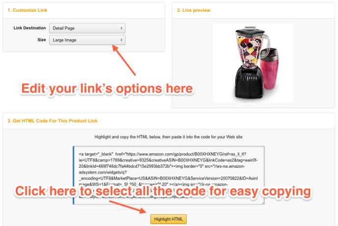 Adding Amazon com Affiliate Links to your WordPress com site