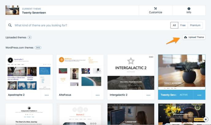 Uploading & Setting Up Custom Themes — Support — WordPress com