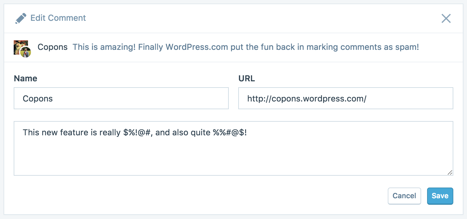 Manage Comments — Support — WordPress.com