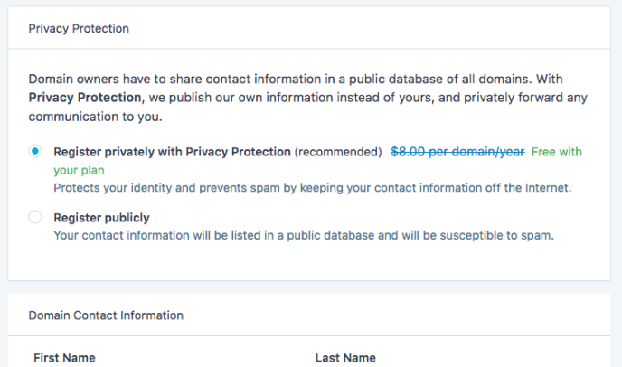Enable private registration
