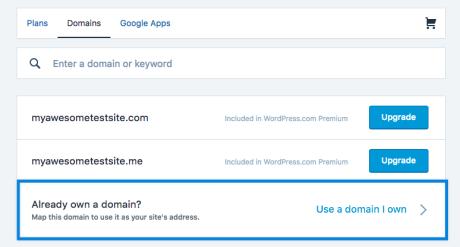 Use a domain I own