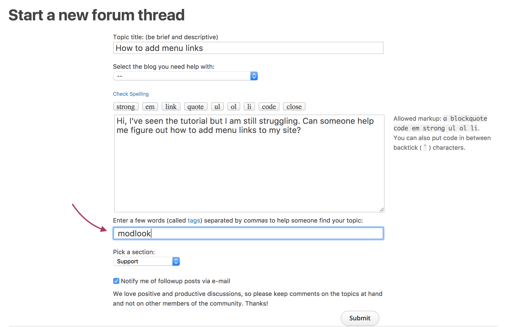 How to Get Your Websites Forum off the Ground
