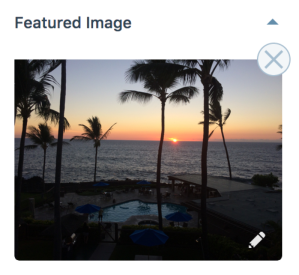 Featured image area in post editor