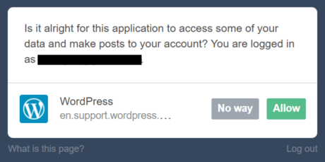 Once You Click Allow Your Tumblr Account And WordPress Will Be Connected