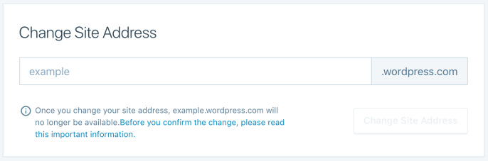 change a site address support wordpress com