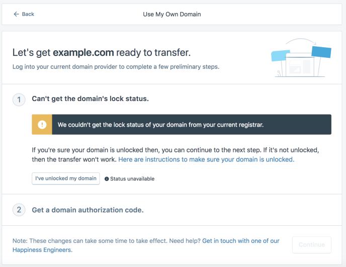 Domain lock status