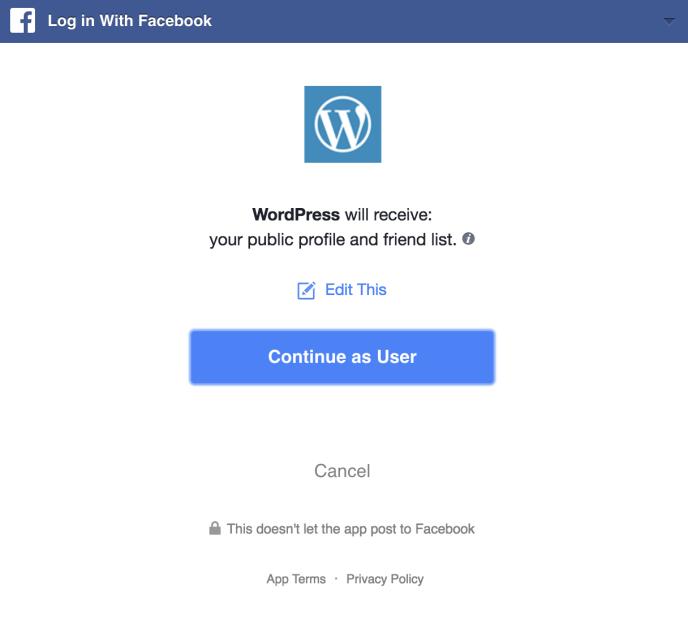 Inloggen met Facebook.