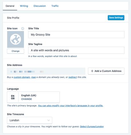 Language Settings — Support — WordPress com