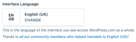 Set Interface Language