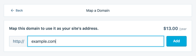 Map a domain you already own - sample form