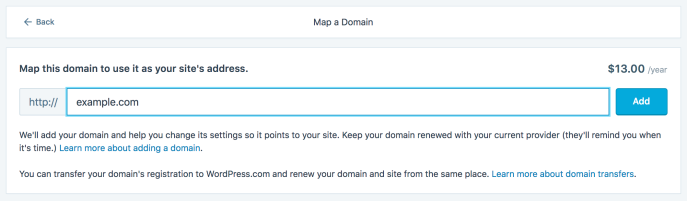Map a domain you own