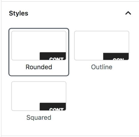 """Tab """"Stile"""" für den Button-Block"""