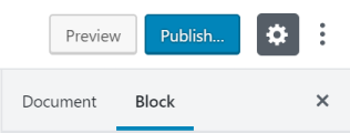 The block settings can be found in the sidebar.