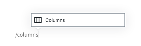 Column Block Add Typing