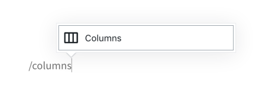 Column Block Add Typing