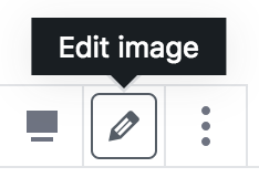 Icône Crayon pour modifier un bloc d'image
