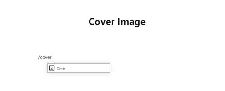 Use o comando de barra /cover para inserir uma imagem de capa.