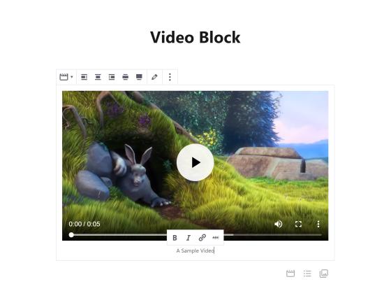 Um bloco de vídeo em ação.